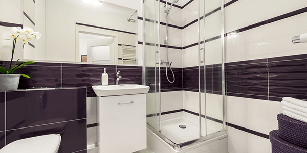 Tempered bathroom glass