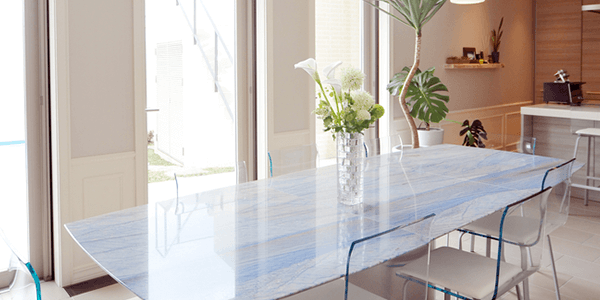 Painted tempered glass furniture