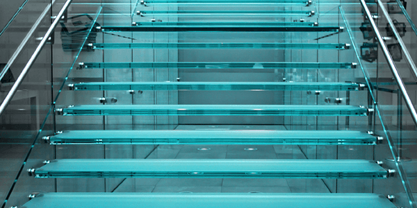Aesthetic glass for staircase