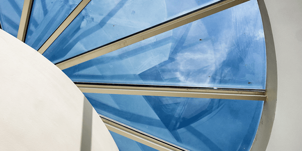 Energy efficient glass skylight windows for natural light