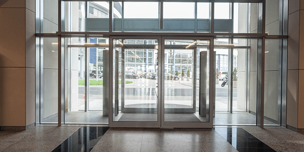 Toughened glass door designs for office