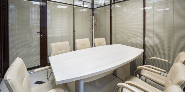 stylish integrated blinds for office